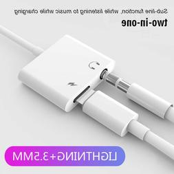 Charge+Headphone Jack Converter Adapter 2 in1 Lightning to 3