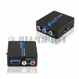Component Video RGB + L/R RCA Stereo Audio to HDMI Converter