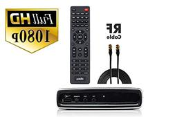 Digital Converter Box + Coaxial Cable for Watching & Recordi