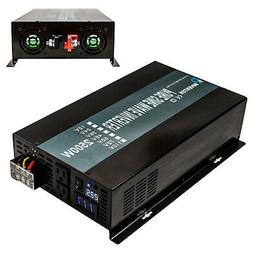 2500W DC to AC Power Pure Sine Wave Inverter 24V to 120V Sol