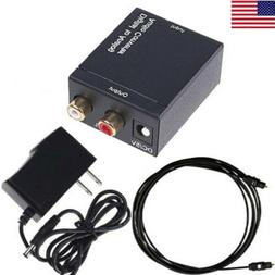 Digital to Analog Audio Converter Optical/Coaxial In Headpho