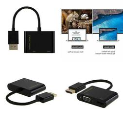 Displayport To HDMI VGA Adapter 2 In 1 Two One DP Converter
