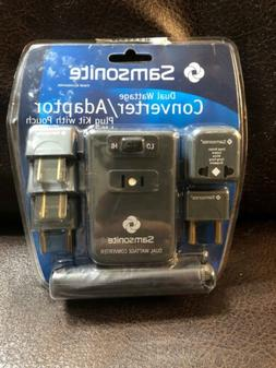 Samsonite Dual Wattage Converter/Adapter Plug Kit With Pouch
