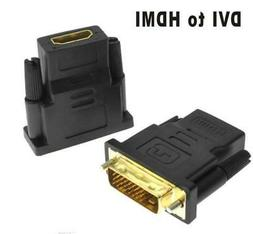 CableCreation DVI to HDMI,  Gold-Plated DVI to HDMI Adapter,