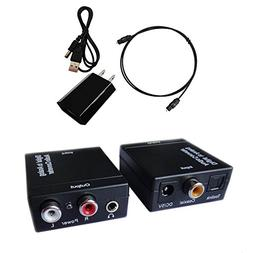 Easyday Digital to Analog Audio Converter with Digital Optic