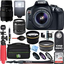 Canon EOS Rebel T6 DSLR Camera with EF-S 18-55mm IS II & 70-