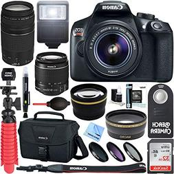 Canon EOS Rebel T6 DSLR Camera w/ EF-S 18-55mm & 75-300mm IS