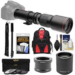 Vivitar 500mm f/8.0 Telephoto Lens  with 2x Teleconverter  +
