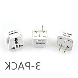 BESTEK  Grounded Universal Plug Adapter Travel Companion Uni