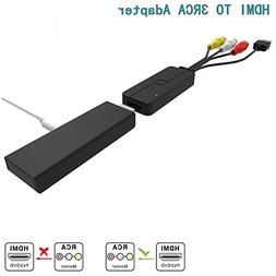 HDMI to 3RCA Cable,CableDeconn HDMI to 3RCA AV Composite Vid