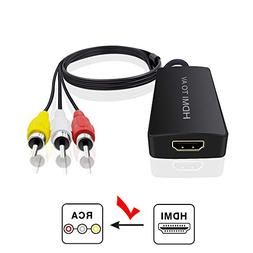 HDMI to Audio Video Converter, HDMI to RCA Converter for Ama