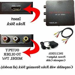 HDMI Converter for Roku Streaming Stick ALL Older Model TVs