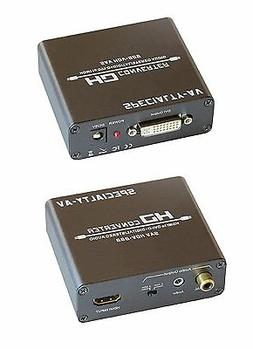 HDMI to DVI with Audio Converter Digital S/PDIF Coax and Ana