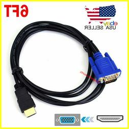 HDMI Male to VGA Male Video Converter Adapter Cable for PC D