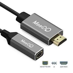 HDMI to Mini DisplayPort Converter Adapter Cable,QGeeM 20Cm