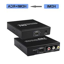 HDMI to RCA and HDMI Converter, HDMI to AV 3RCA and HDMI Ada
