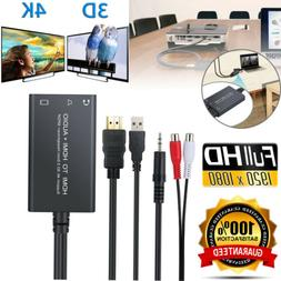 HDMI to HDMI + SPDIF Toslink or 3.5mm Stereo Audio Extractor