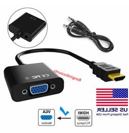 HDMI TO VGA HDMI Male to VGA Female Converter Adapter with A