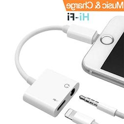 Headphone Adapter for iPhone Adapter 3.5mm Jack Charging Aud