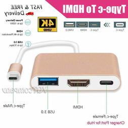 Hot USB Type C to HDMI HDTV TV Cable Adapter Converter For M