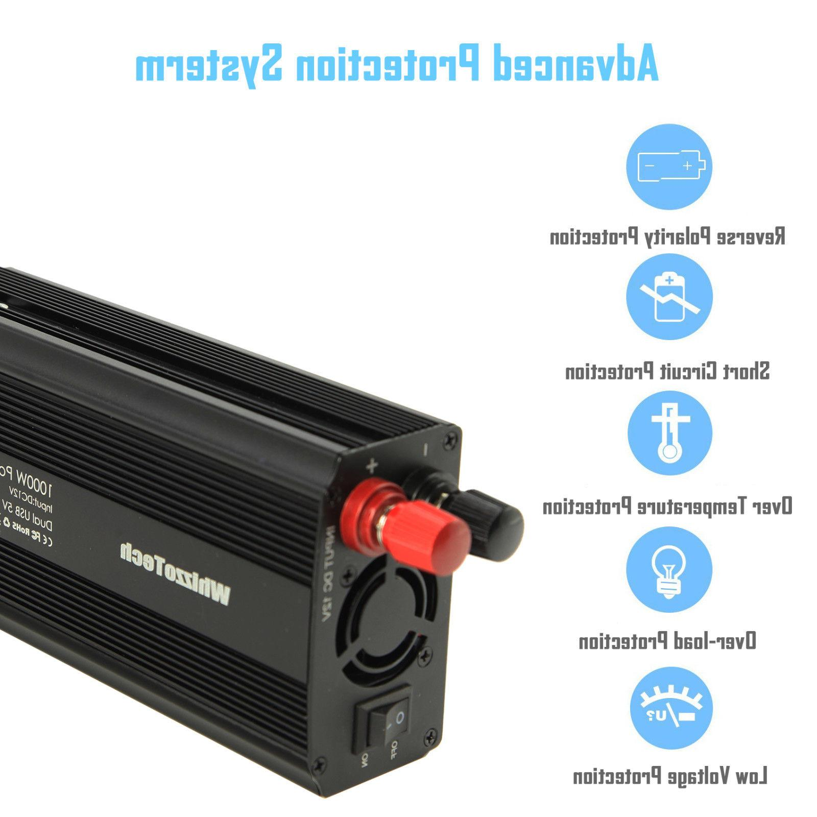 1000W 2000W Power Inverter AC 110V Outlets RV