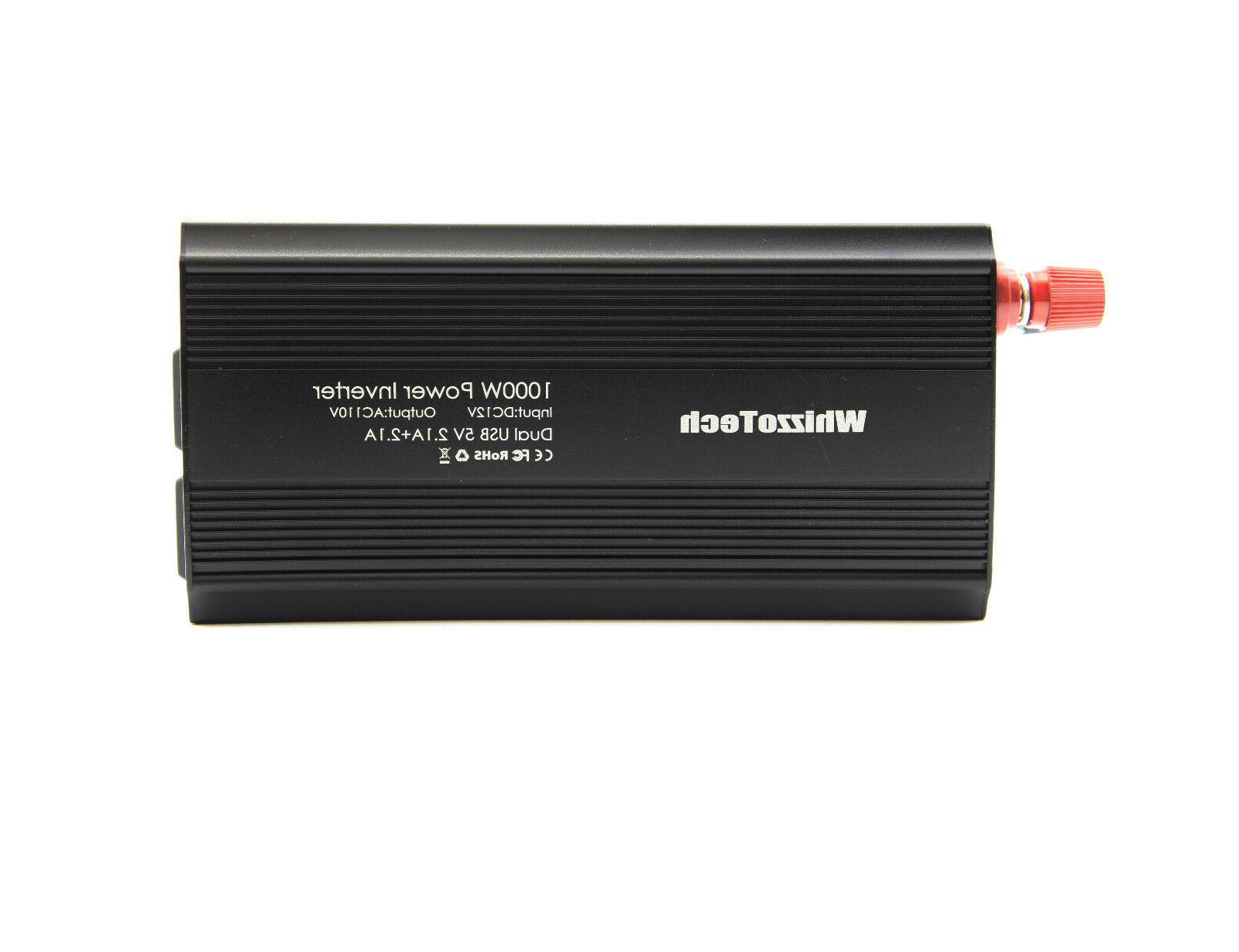1000W 2000W Car Power Inverter 12V AC 110V 2 Outlets RV