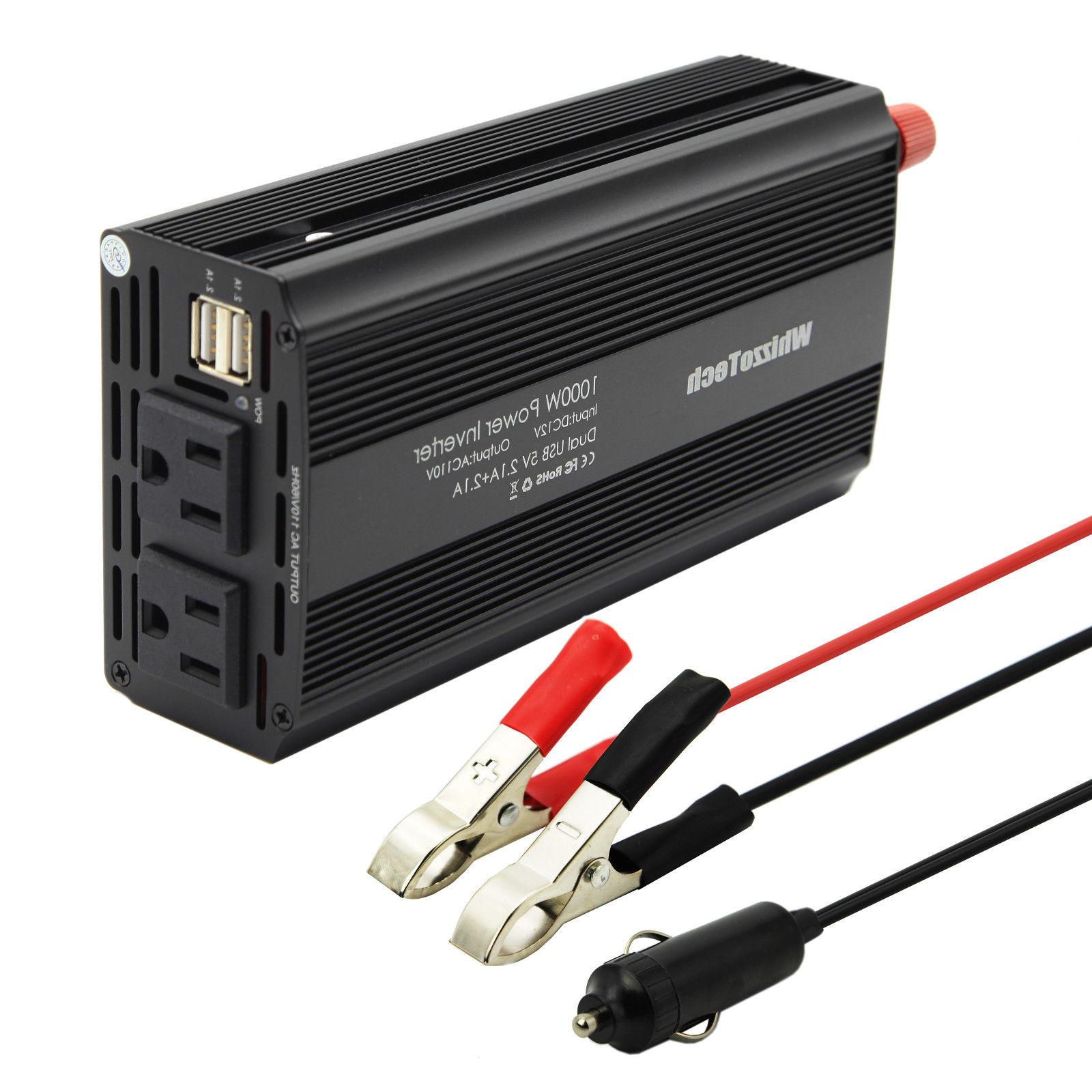 1000W 2000W Car Power Inverter DC AC 110V AC Outlets