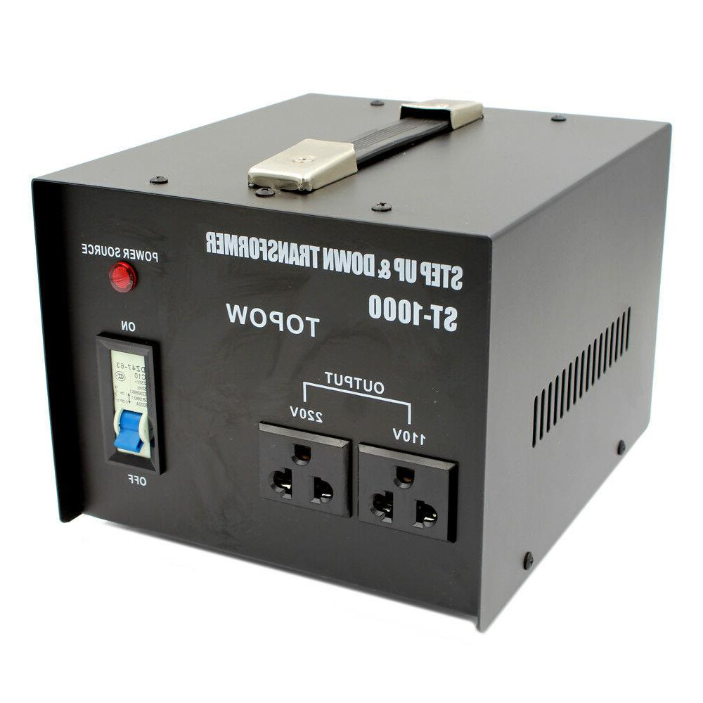 1000Watt Step Up/Down Heavy Duty Electrical Power Voltage Co
