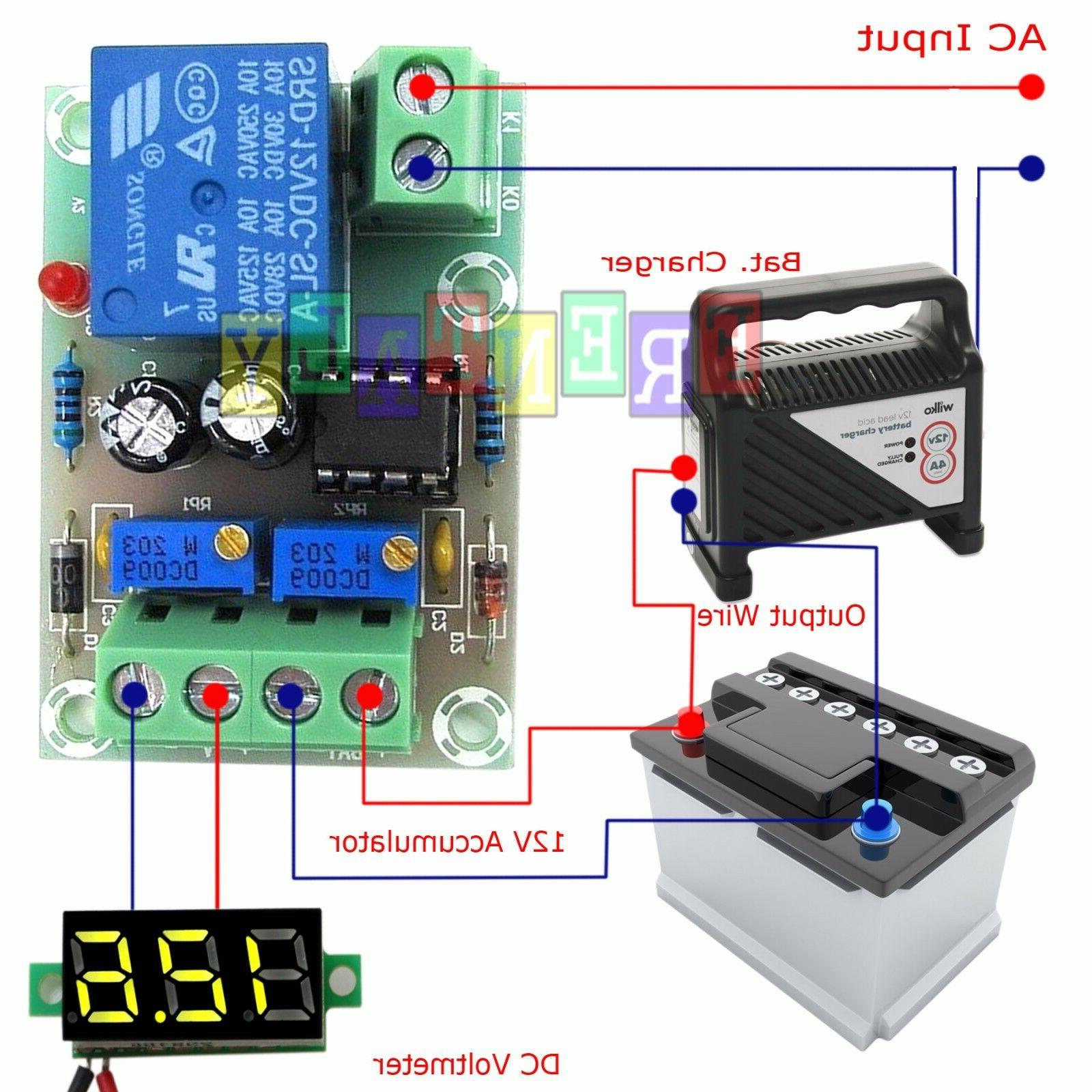 12v charger charging control module lithium lead