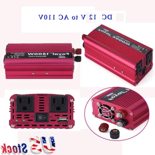 1500/2000W Power Inverter 12V to AC Converter