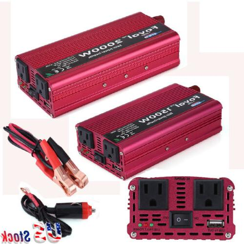 1500/2000W Portable Power Inverter DC Converter