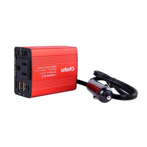 150W Inverter DC to 110V AC 3A Dual Charger