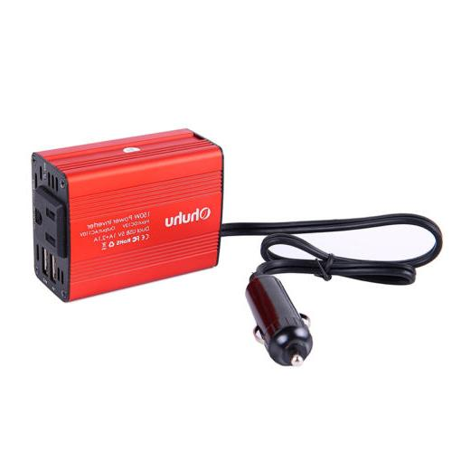 DC 12V AC with Dual USB Charger