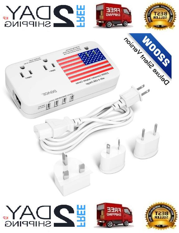 2200w voltage converter and adapter with 4