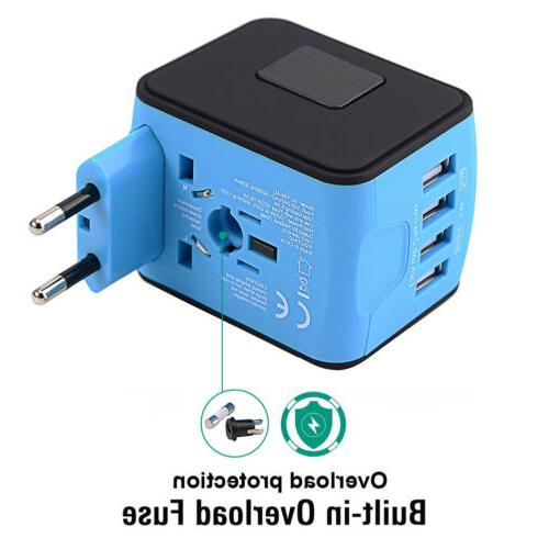 3 USB Type Universal Adapter/Converter Plug Power