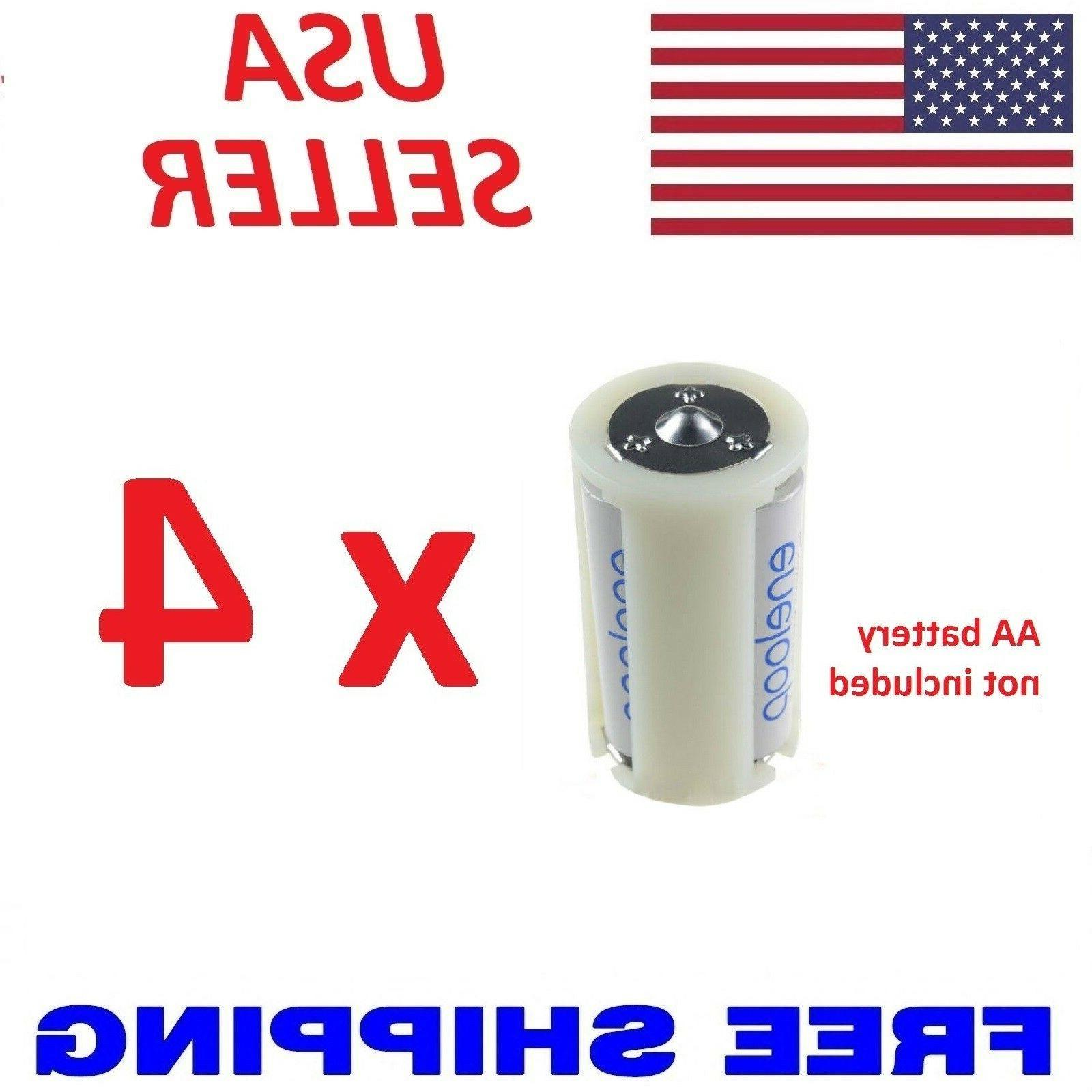 4 x plastic parallel aa battery adapters