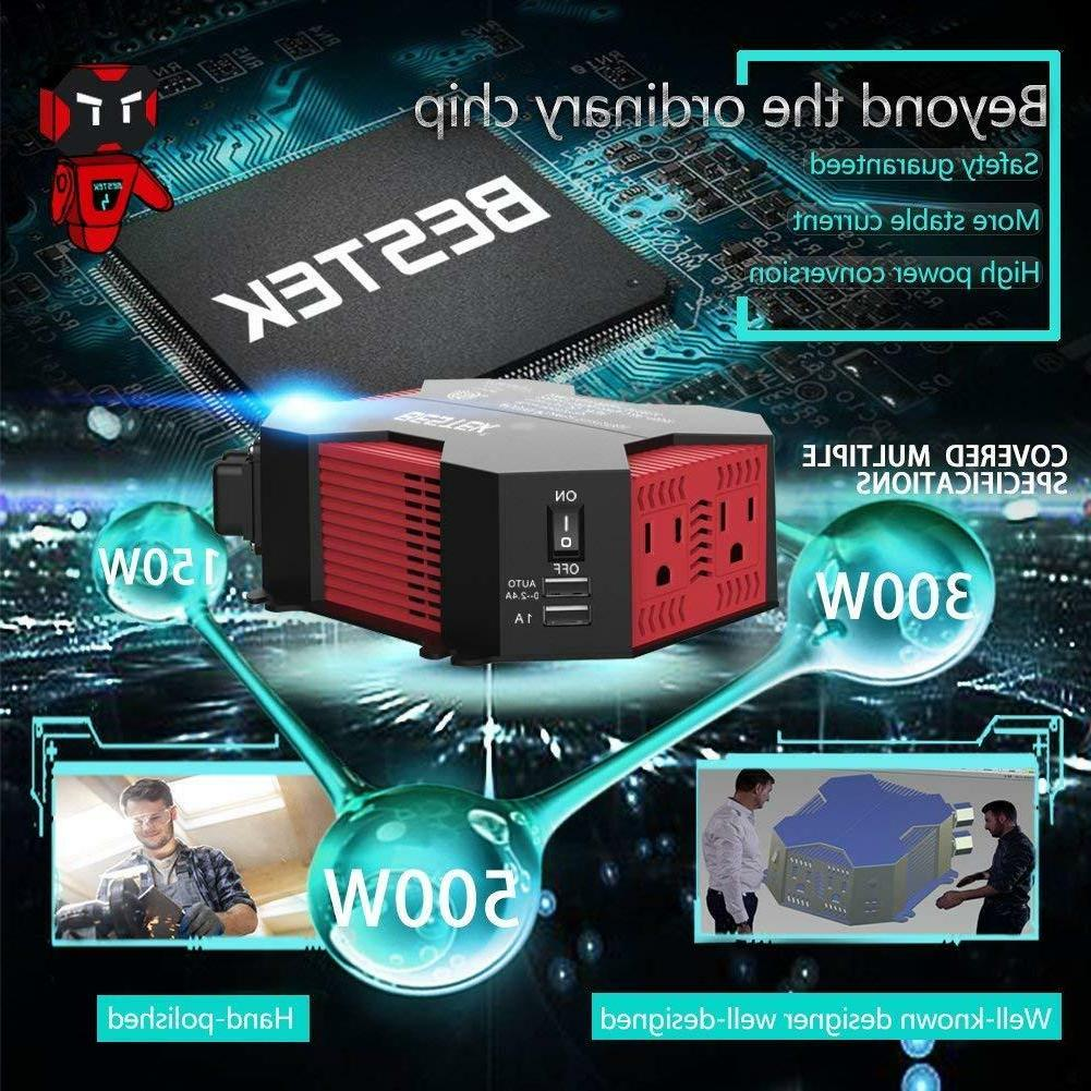 BESTEK 400W Inverter 110V Car USB