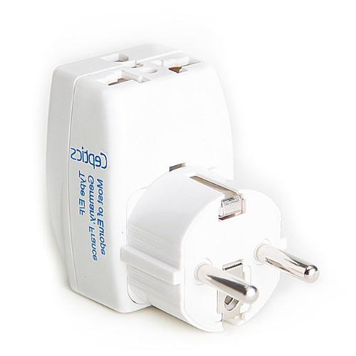 Ceptics GP3-9 3 Outlet Travel Adapter Plug Type E/F Schucko