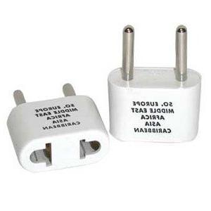 Franzus Travel Lite Adapter Plug Two Thin Blades White by Co