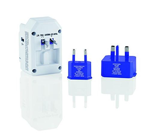 Travel Smart All-in-One Adapter 3 Outlets; US, Europe, UK, Spain,