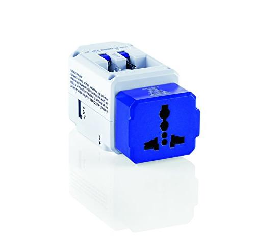 All-in-One Adapter 3 Outlets; US, UK, Spain,