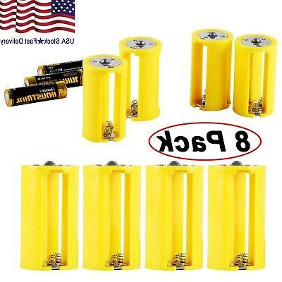 aa to size d battery adapters converter