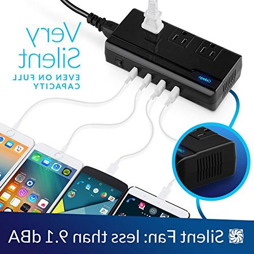 Odoga to with 4 USB 3 AC Outlets and UK/Europe/AUS Suitable for More 150 Countries, Case
