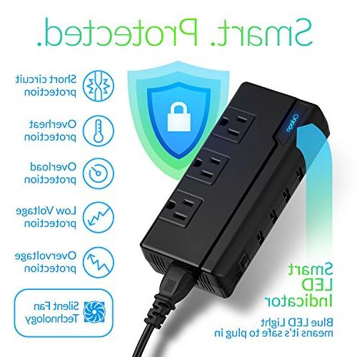 Odoga Voltage to Travel with 4 USB 3 and UK/Europe/AUS Suitable for 150 Black Case