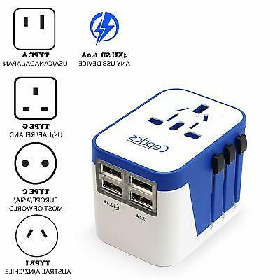 all in one international travel plug adapter