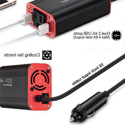 Car Power Inverter 150W DC to 110V Converter Outlet for Auto