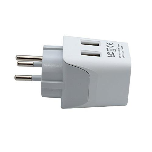 Ceptics to Palestine Travel Adapter Plug With Type H Compact