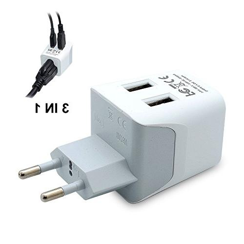 Ceptics of Europe Plug With USB - Type C - Ultra Compact