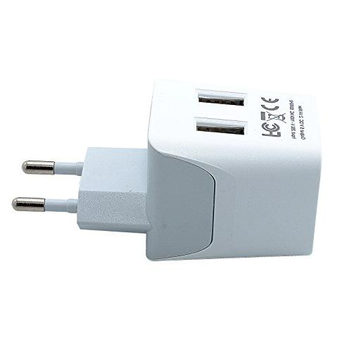 Ceptics USA of Europe Plug With Dual - Type C Ultra