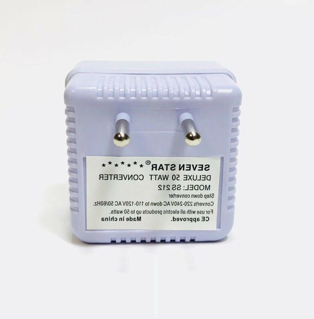 50 Voltage Converter to 110 Volts Adapter